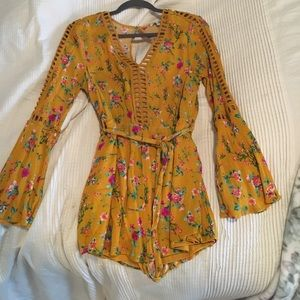 NWOT Mustard Yellow Long sleeve Romper